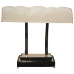 French Art Deco Table Lamp Signed by Sabino