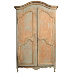 Wonderful Painted 19th Century Armoire or Buffet Deux Corps