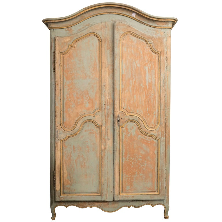 Wonderful Painted 19th Century Armoire or Buffet Deux Corps For Sale