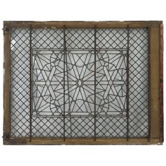 19th Century Leaded Aesthetic Glass Window