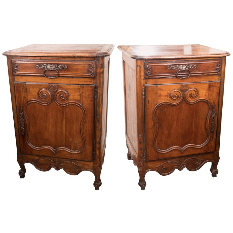 Pair of 18th Century Walnut Buffets For Sale