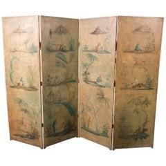 19th Century Chinoiserie Screen