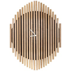 Ozomat Brazilian Contemporary Wood Wall Clock by Lattoog