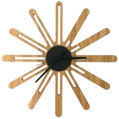 Calli Brazilian Contemporary Wood Wall Clock by Lattoog