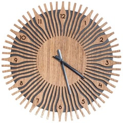 Mazat Brazilian Contemporary Wood Wall Clock by Lattoog