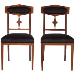Vintage Swedish Empire Side Chairs
