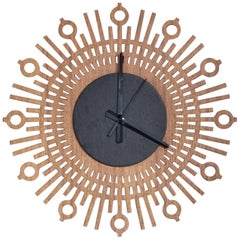 Coat Brazilian Contemporary Wood Wall Clock by Lattoog