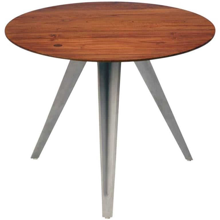 AKMD Collection Mango Wood and Metal Dart Table
