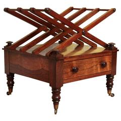 Antique Regency Period Figured Rosewood Canterbury, English, circa 1820