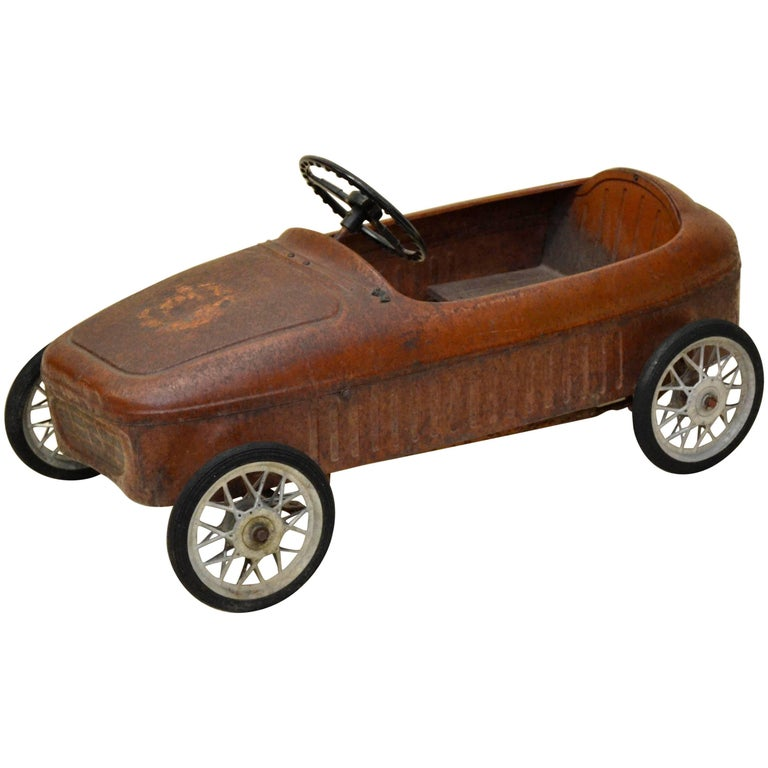 1940s Vintage English Metal Red Pedal Car For Sale At 1stdibs
