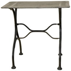 1930s Vintage Italian Stripped Metal Garden Table