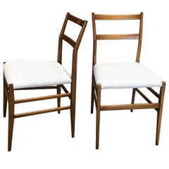 Pair of Gio Ponti Superleggera Dining Chairs