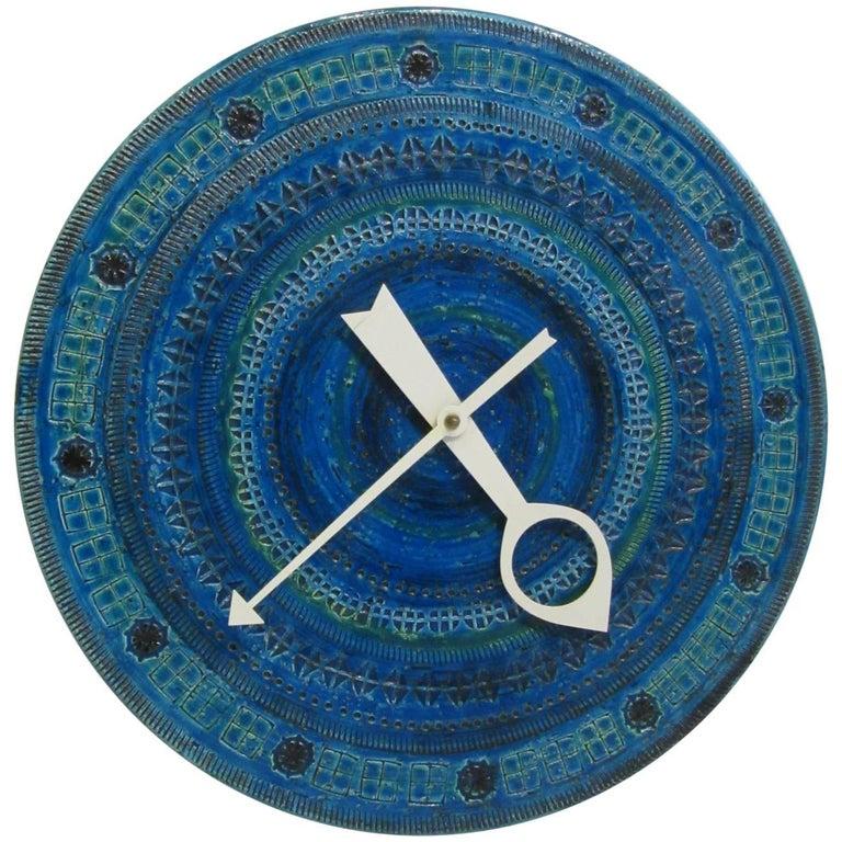 Howard Miller Meridian Ceramic Clock by Bitossi Londi, Rimin