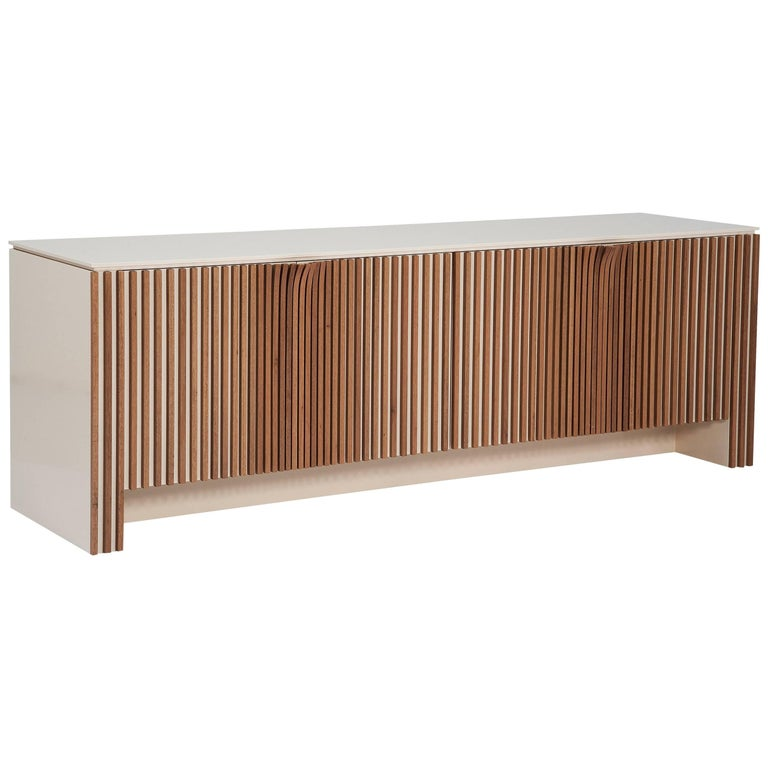 Mole Brazilian Contemporary Wood Sideboard by Lattoog