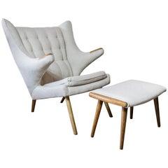 Sven Skipper Vintage Papa Chair with Ottoman