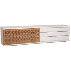 Sonata Brazilian Contemporary Graphic Pattern Cut Wood by Lattoog