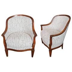 Pair of Oak Deco Armchairs