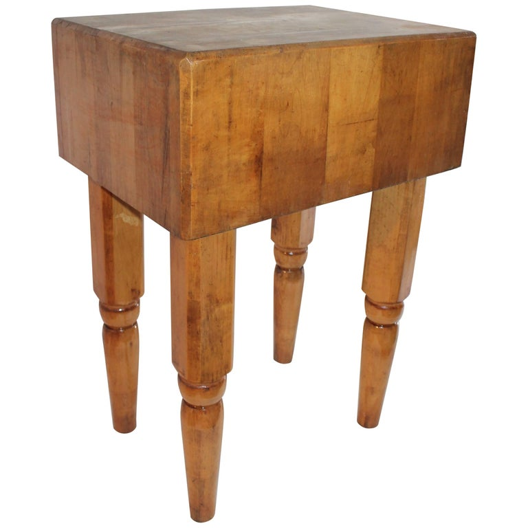 Tall Butcher Block Table