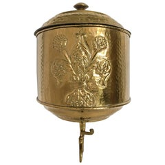 Repousse English Brass Lavabo Wall Fountain