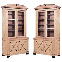 Pair of Swedish Biedermeier Bookcase Cabinets
