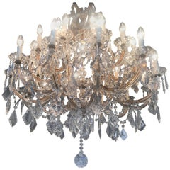 Imposing Crystal Chandelier Maria Theresa Style, Murano, 1950