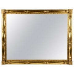 Gilded Wood Framed Mantel or Fireplace Hanging Wall Mirror