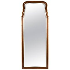 Vintage Mahogany Wood Framed Hanging Wall Mirror