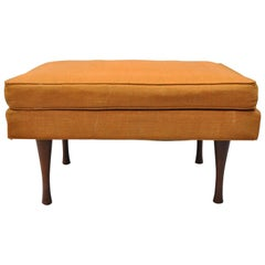 Paul McCobb Symmetric Group Widdicomb Ottoman Hourglass Walnut Legs Midcentury