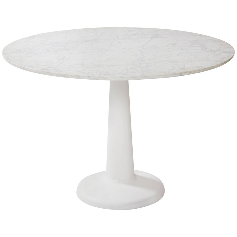 Tolix Table G in Steel with Marble Top by Kilian Schindler For Sale
