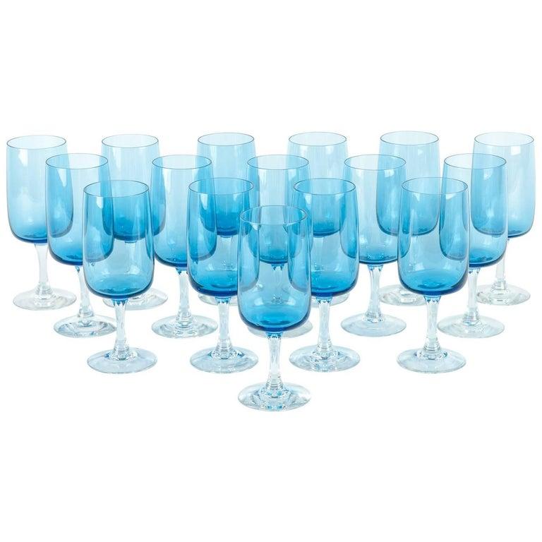 Vintage Crystal Wine / Water Barware Glass Set