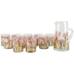 Vintage Martini / Cocktail Glassware Set 11 Pieces