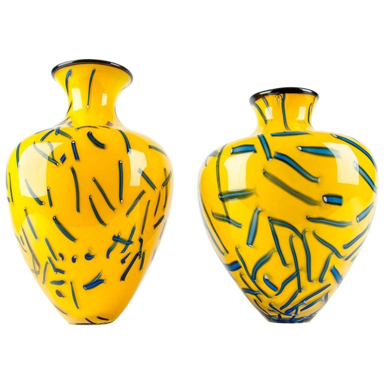 Vintage Pair of Art Gl Decorative Vases or Pieces at 1stdibs on yellow floor vases, yellow decorative boxes, yellow decorative stone, large blue ceramic vase, yellow decorative decor, yellow decorative cross, yellow decorative glass, yellow vases ikea, yellow decorative plate, yellow decorative soap, glass bowl vase, yellow vases wholesale, yellow decorative accessories, fenton hobnail vase, southern living tuscan vase, antique cut glass bud vase, yellow decorative chandelier, yellow decorative box, yellow decorative rug, yellow decorative pillow,