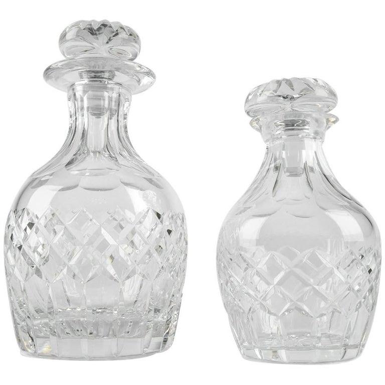Cartier Cut Crystal Barware Pair of Decanter