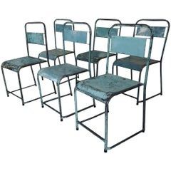 Vintage Russian Stacking Metal Chairs