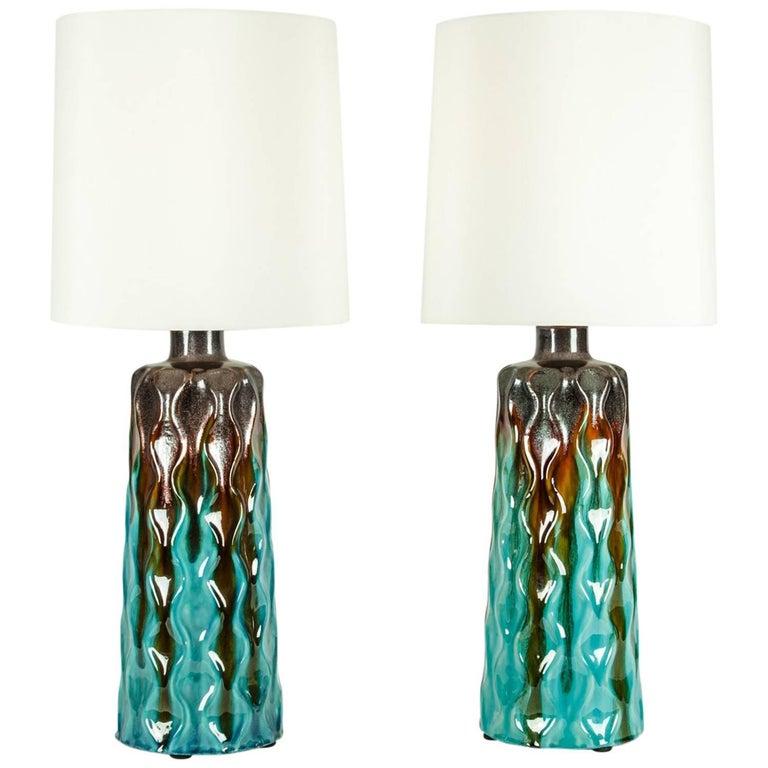 Vintage Pair of Midcentury Modern Table Lamps