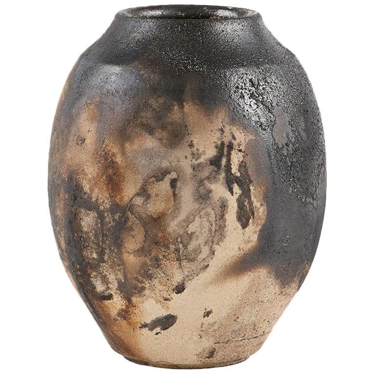 Ryan McDonald Ceramic Fire Smoked Pottery Pot #4