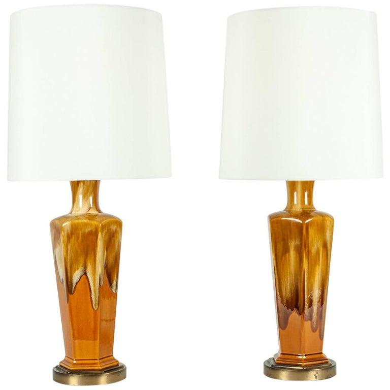 Vintage Pair of Porcelain Table Lamps