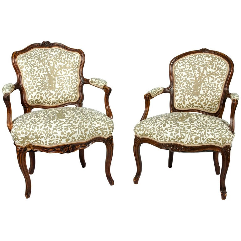 Early 19th Century Louis XVI Pair of Side Armchairs