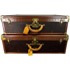 Hers & His Custom Louis Vuitton Alzer Suitcases