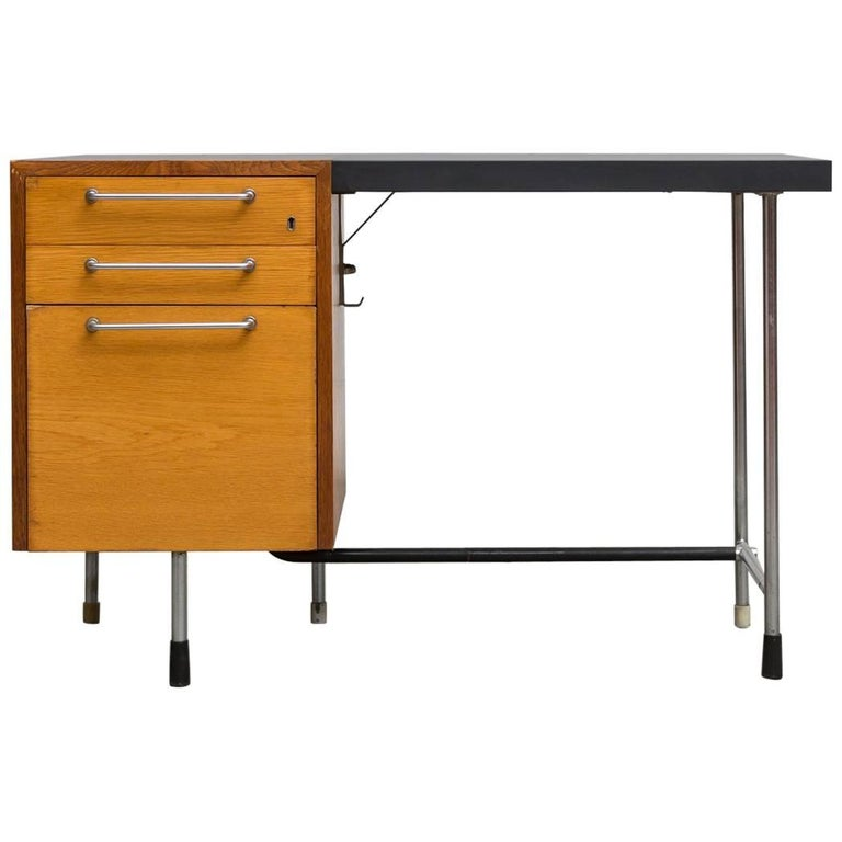 Two-Tone Industrial Wood and Metal Desk