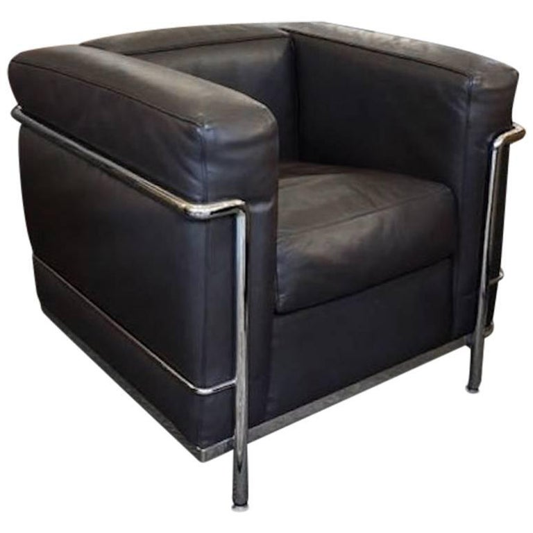 Cassina Le Corbusier LC2 Poltrana Leather Armchair