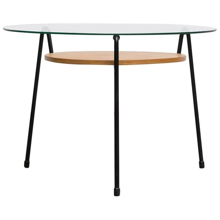 Gispen Mosquito Side Table with Wood Tray