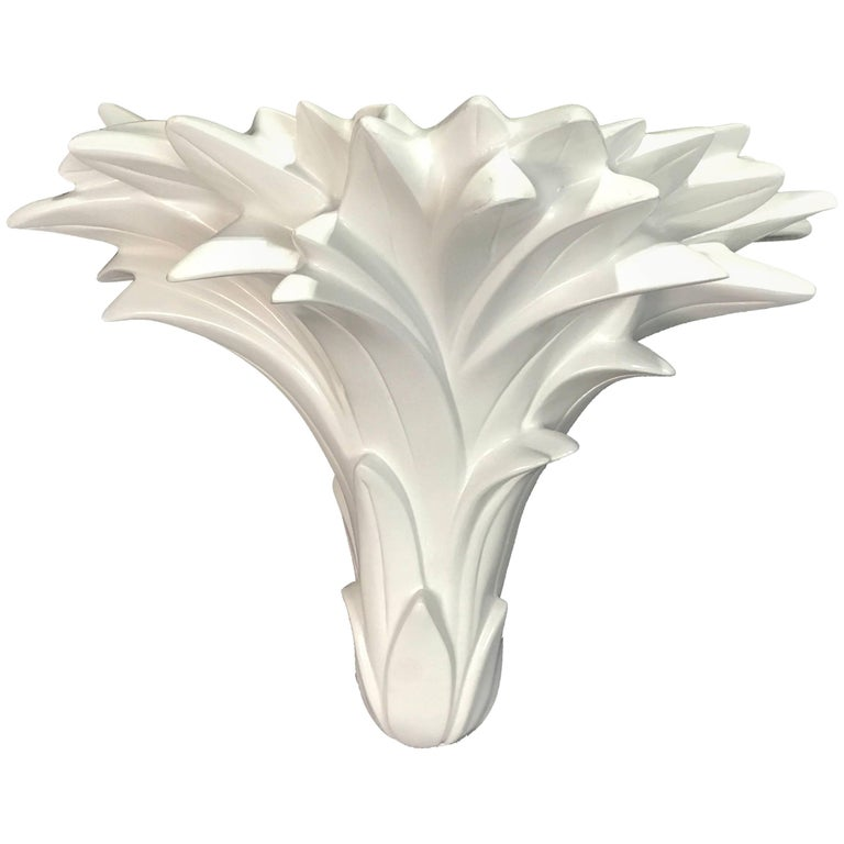 Single Palmette Wall Sconce in the Manner of Serge Roche