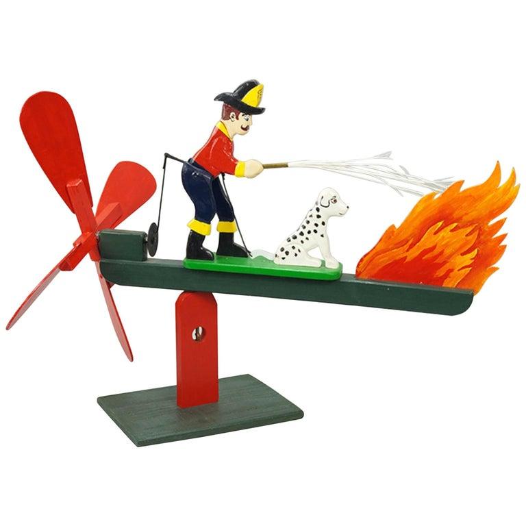 Len Norman, American 20th Century, the Fireman Whirligig