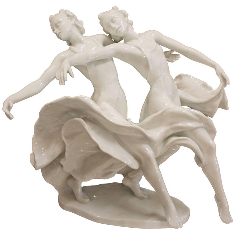 Rosenthal Porcelain Figure Dance 'Kaiserwalzer', Frederich Gronau For Sale