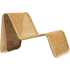 """P3"" Tito Agnoli for Bonacina Wicker Rattan Design Midcentury Armchair"