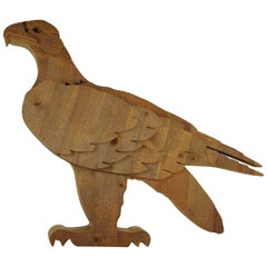 Eagle Wood Sculpture by Michelangeli, Italy