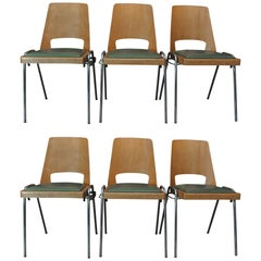 Set of Six Baumann Stack-Able Chairs, circa 1960