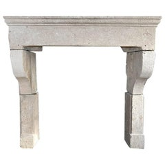 Antique Sandstone Fireplace Mantel 19th Century