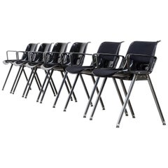 1980s Tecno SM203 Office Chair Set of Six
